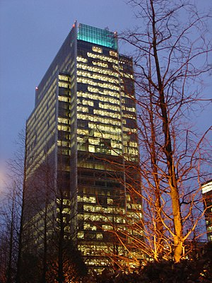 Clifford Chance - 10 Upper Bank Street, Clifford Chance's headquarters in Canary Wharf, London