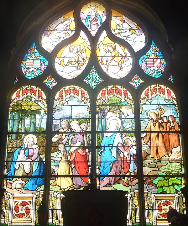 The window dedicated to Sainte Nonne.