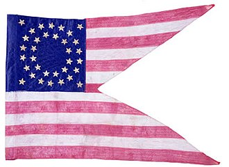 Flag of Ohio - A typical 34-star Union guidon, carried by many Ohio cavalry units during the Civil War.