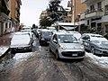 12 February 2010 - Rome, via di Torrevecchia - Traffic in the snow 2.jpg