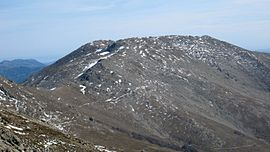 The summit of Punta La Marmora seen from Bruncu Spina
