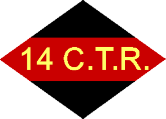 The King's Own Calgary Regiment (RCAC) - Unit patch of the 14th Canadian Army Tank Regiment during the Second World War