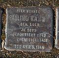 15-03-08 Stolpersteine Lindenthal Bachemer Strasse 95 Pauline Kahn.jpg