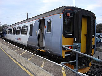 National Express East Anglia - Class 156 at Marks Tey in March 2008