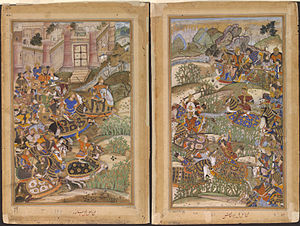 Akbar's conquest of Gujarat - The Battle of Sarnal, 1572, Akbarnama