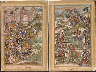 Sayyed Mahmud Khan - 1572-The Battle of Sarnal Gujarat-Akbarnama
