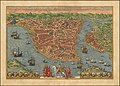 1572 bird's eye view map of Constantinople - Byzantium Nunc Constantinopolis.jpg