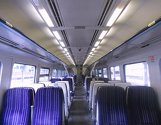 British Rail Class 158 - The interior of a Northern Rail refurbished Class 158 (First Refurbishment)