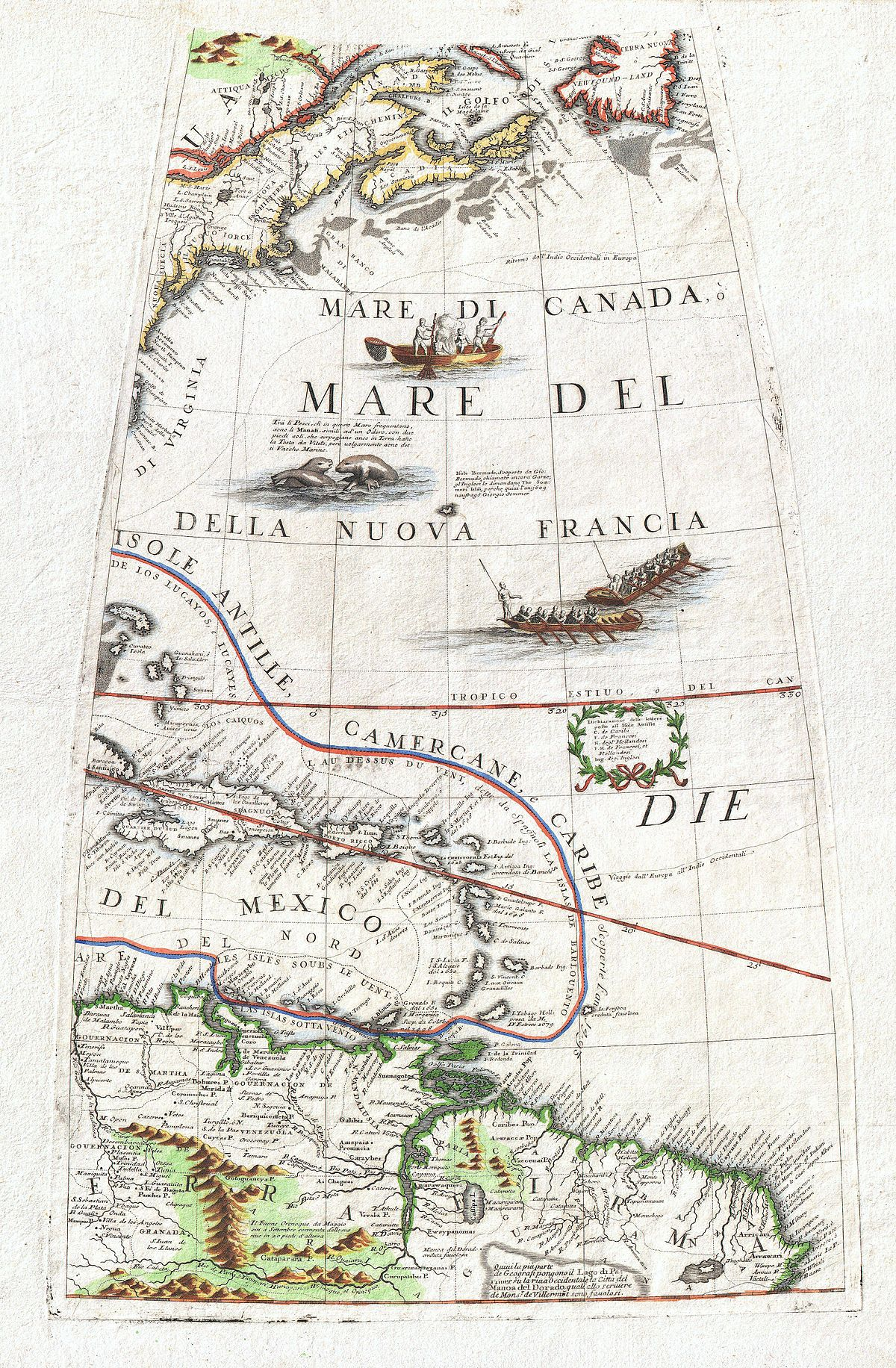 Image of: File 1688 Coronelli Globe Gore Map Of Ne North America The West Indies And Ne South America Geographicus Neamericagore Coronelli 1688 Jpg Wikimedia Commons