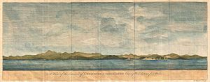 Zihuatanejo - View of the town in 1748