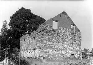 Milan, New York - The 1766 Johannes Rowe House photographed in 1940, now gone. Was on Rowe Road near the Town Hall.