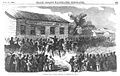 1856 Kansas Col. Sumner arriving at Constitution Hall Frank Leslies Illustrated Newspaper July26.jpg