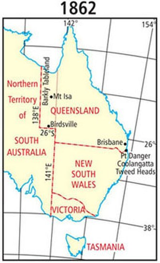 Queensland borders - 1862 change to Queensland's western border