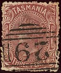 1871ca 3d red-brown Tasmania oval 29 Yv30 Mi26a.jpg