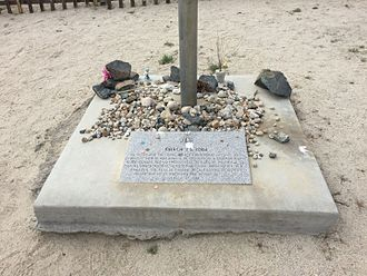 1872 Lone Pine earthquake - More recent memorial of the earthquake, installed March 26, 1988.