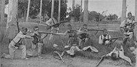 1897-02-08, La Ilustración Artística, Guerra de Cuba, Sargento de Sigüenza en el combate de Ceja del Toro y defensa del convoy de Viñales, Gómez Carrera (cropped).jpg