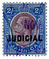 1913 2s Judicial revenue stamp of Jamaica.jpg