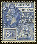 1922 6c BrGuiana Yv130 SG276.jpg