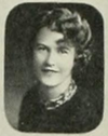 Black and white photograph of Caroline Brady