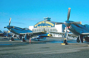 144th Fighter Wing - Hayward Air National Guard Base, California, 1953, F-51H Mustangs.