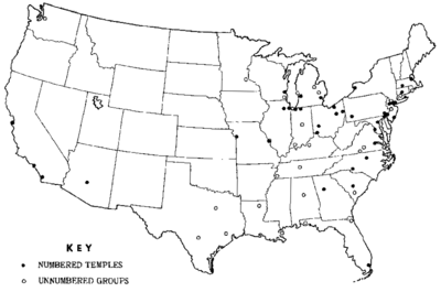 1965 FBI monograph on Nation of Islam - Map of Temples of Islam.png