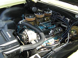 Pontiac 2+2 - Image: 1965 Pontiac 2+2 coupe 421 CID tri power 8 lug 4