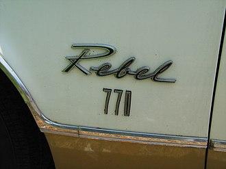AMC Rebel - Rebel 770 emblem