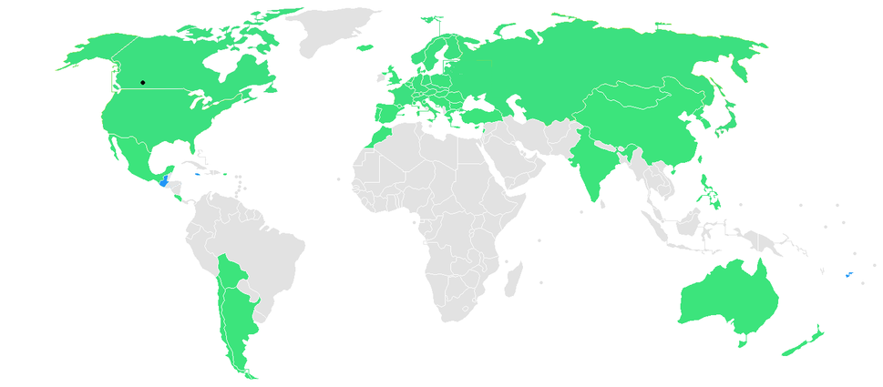 1988 Winter Games countries