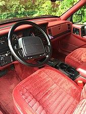 Early 1993 Jeep Grand Cherokee Laredo. Early 1993 ZJ Crimson Interior