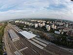 1 - Dzielnica mieszkaniowa Łódź Widzew i Dworzec Kolejowy Dji Phantom 3.JPG