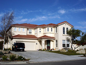 Millionaire - A large suburban home valued at roughly $1,000,000 (2006) in Salinas, California, shown for scale of purchasing power