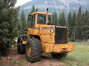 Fiatallis - A Fiatallis FR15B wheel loader in Montana, 2003.