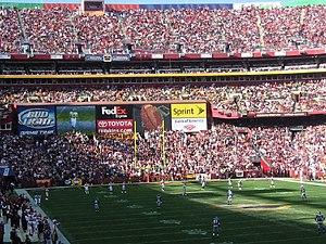 2005 New York Giants season - Image: 2005 01 Fed Ex Stadium Washington Redskins vs New York Giants