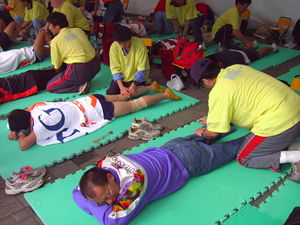Nike Taiwan provide marathon runners massage a...