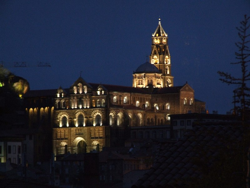 View of the Cathedral at nigth from 'Rue de Capucins