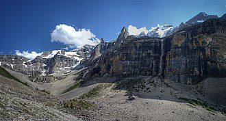 Stanley Peak (Ball Range) - The valley below Stanley Peak and its glacier, taken from the Stanley Glacier Trail