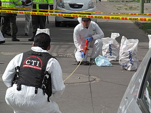 2012 car bombing in bogota - attackers wig.JPG