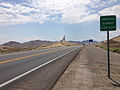 2014-07-17 12 25 12 View south along U.S. Route 95 about 0.3 miles north of the Esmeralda County Line at Tonopah Summit, Nevada.JPG