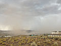 2014-07-20 14 59 53 Blowing dust along the outflow boundary of a thunderstorm in Elko, Nevada.JPG