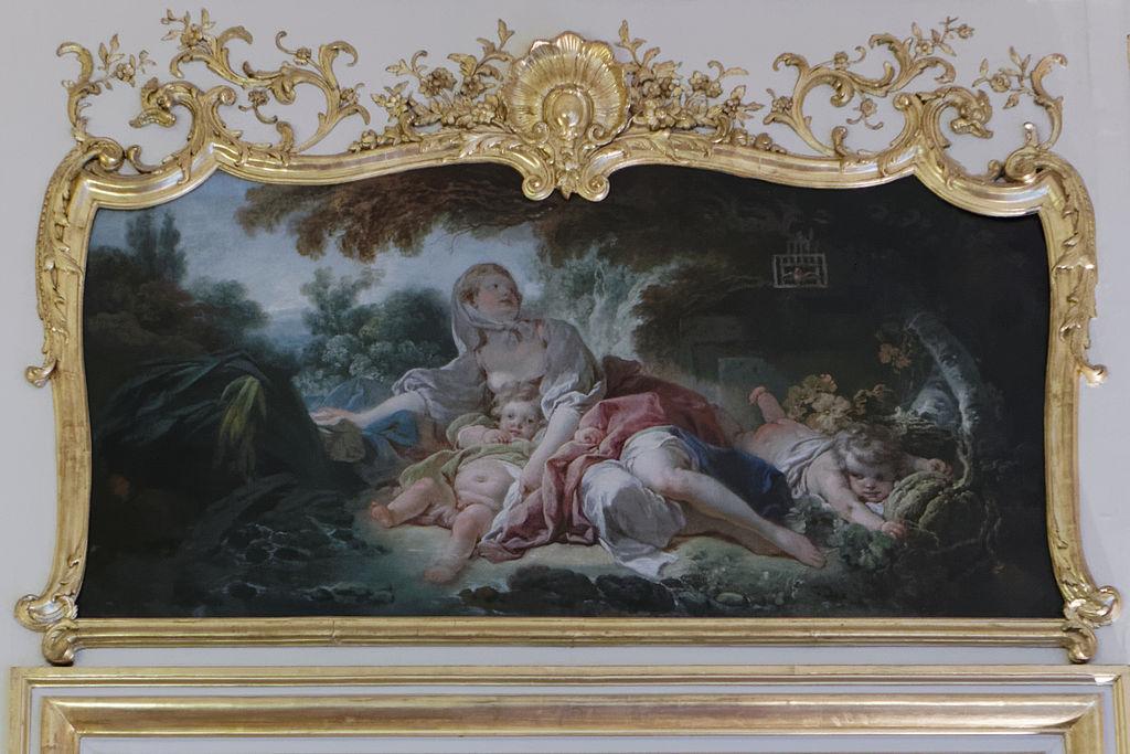 Tableau de Fragonard, dans le bureau du Premier Ministre. Cl. P.-Y. Beaudouin - CC-By-SA 4.0