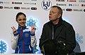 2014 ISU Junior Grand Prix FinalI Evgenia Medvedeva Sergei Dudakov IMG 1590.JPG