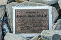 2015-09-11 04 Cairn plaque for Joseph-René Bellot at Beechey Island, NU Canada.jpg