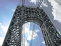 2015 George Washington Bridge east tower from below looking west.jpg