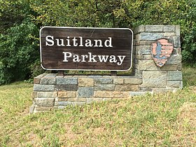 2016-09-11 12 35 51 Sign for the Suitland Parkway just west of Old Marlboro Pike in Westphalia, Prince Georges County, Maryland.jpg