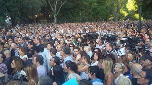 Alberto Nisman - Demonstration remembering Nisman in 2016