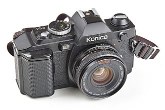 Konica - Konica FS-1, world's first SLR with built-in motor drive