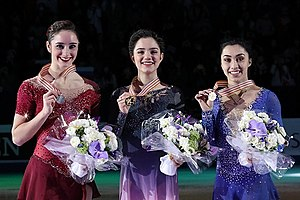 2017 World Figure Skating Championships - The ladies podium at the 2017 World Championships