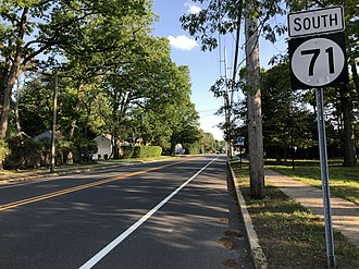 Sea Girt, New Jersey - Route 71 in Sea Girt
