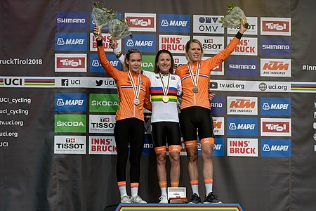 20180925 UCI Road World Championships Innsbruck Women Elite ITT Award Ceremony 850 9441.jpg