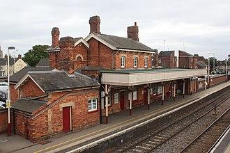 Oakham railway station - Image: 2018 at Oakham station platform 1
